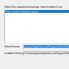 Python for Windows (pywin32) Extensions のインストール 3